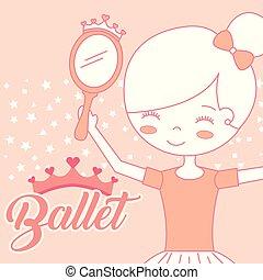 beautiful ballerina with mirror accessory ballet