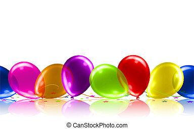 Beautiful Balloons on the Floor