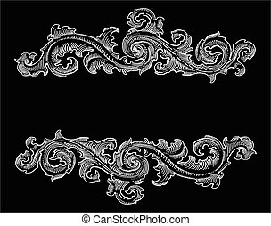 Beautiful Baroque style ornament - Beautiful Baroque style...