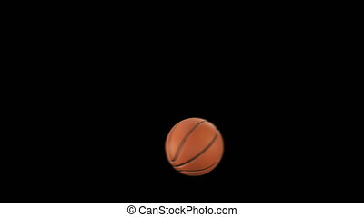 Beautiful Basketball Ball Throws in Slow Motion on Black...