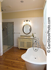 bathroom with clawfoot tub - beautiful bathroom with...