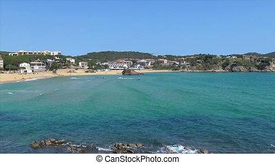 Beautiful  bay in Costa Brava, village La Fosca in Spain