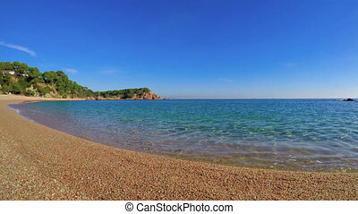 Beautiful bay in Costa Brava, village near the village Plaja de Aro in Spain