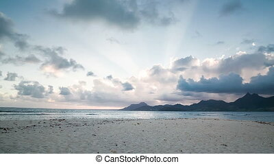 Beautiful beach and mountains