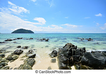Beautiful beach and stone at Khai Island, Andaman Thailand