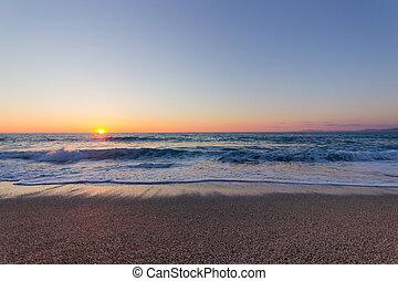 beautiful beach and sunset