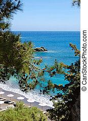 Beautiful beach and turquoise sea, Crete, Greece