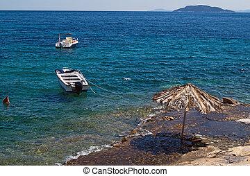 Beautiful beach at Chalkidiki peninsula, Greece