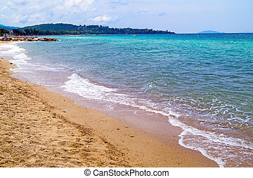Beautiful beach at Chalkidiki peninsula, Greece