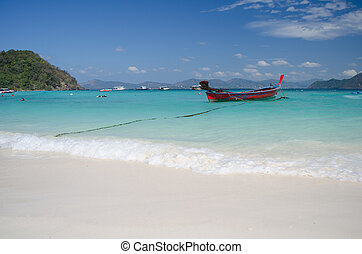 beautiful beach at coral island, Phuket