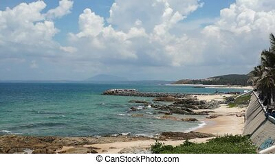 Beautiful beach at the coastline