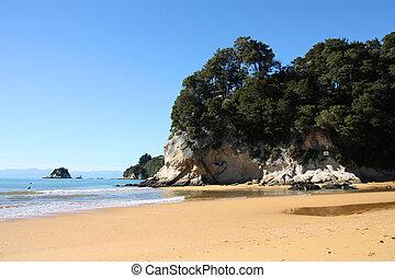Beautiful beach - Beautiful Kaiteriteri beach in New Zealand...