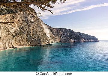 beautiful beach in a greek island