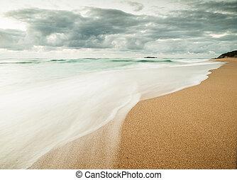 Beautiful beach in Galicia, Spain.