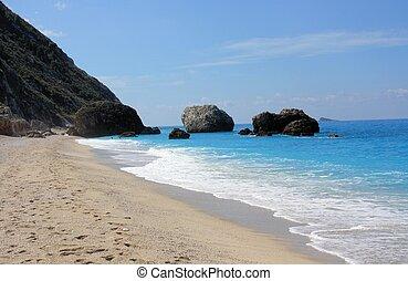 beautiful beach in lefkada greece