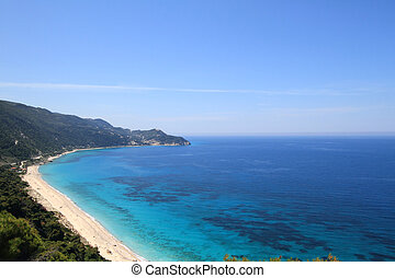 Beautiful beach in lefkada, Greece