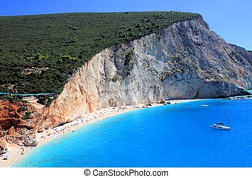 beautiful beach in lefkada greece