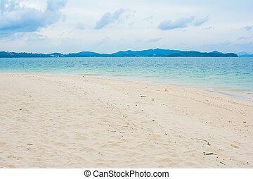 beautiful beach in Naka Noi Island, Phuket