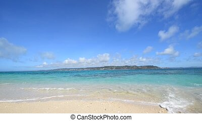 Beautiful beach in Okinawa - The cobalt blue sea and blue ...