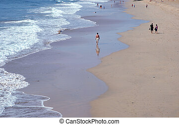 Beautiful beach in Porto Santo Island