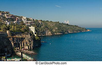 beautiful beach in Sorrento Italy - beautiful beach on the...