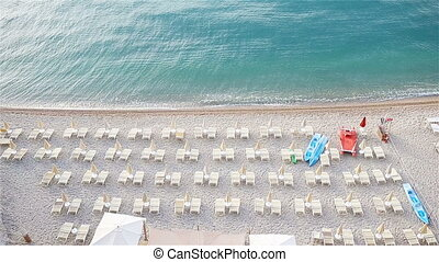 White amazing beach in the reserve Gargano with turquoise water