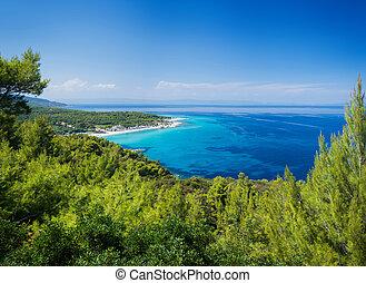 Beautiful beach lagoon - Panorama of beautiful beach lagoon...
