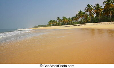 beautiful beach landscape in India
