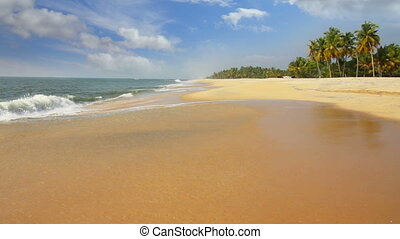 beautiful beach landscape - ocean in India