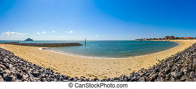 Beautiful beach landscape on the island of Foehr, the...