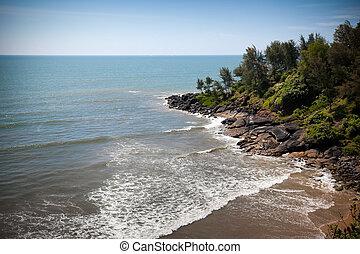 Beautiful beach of ocean