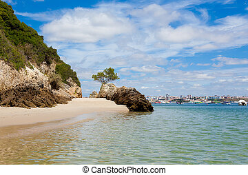 Beautiful beach of Setubal in Portugal