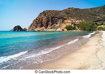 Beautiful beach on Milos island, Greece