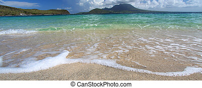 Beautiful beach on Saint Kitts
