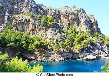 Beautiful beach on the island Mallorca.