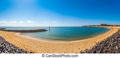 Beautiful beach on the island of Foehr, North Sea, Germany -...