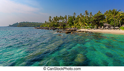 beautiful beach on the island