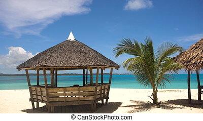 Beautiful beach on tropical island. Daco island, Philippines, Siargao.