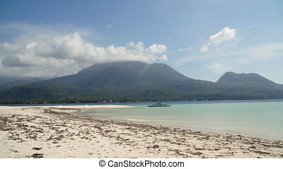 Beautiful beach on tropical island.Camiguin, Philippines. -...