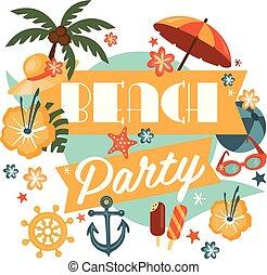 Beautiful Beach Party Design