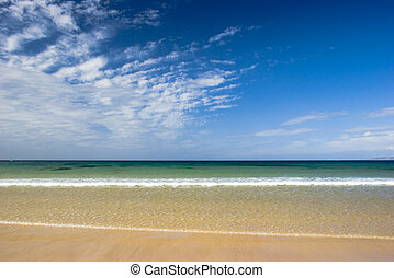 Beautiful beach empty of people