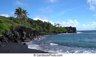 Beach Scene in Maui Hawaii - Beautiful Beach Scene in Maui...