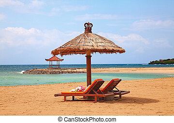 beautiful beach -  beautiful balinese Nusa Dua beach