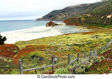 beautiful beach view from big sur