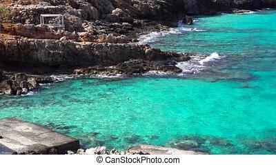 beautiful beach with blue water - beautiful beach with deep...