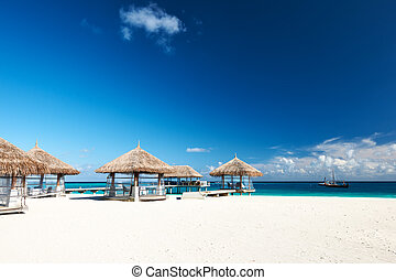 Beautiful beach with jetty - Beautiful beach with bungalow ...
