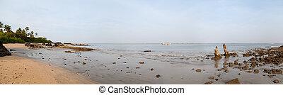 Beautiful beach with rocks