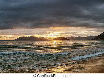 beautiful beach with sunset