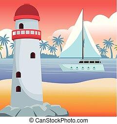 Beautiful beachscape scenery - Beautiful beachscape with...