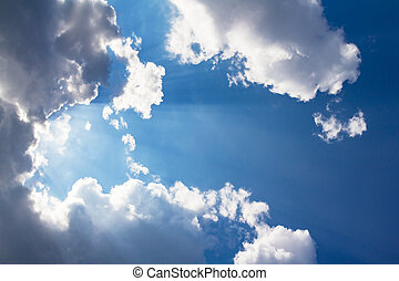 Beam of light and the clouds - Beautiful Beam of light and ...